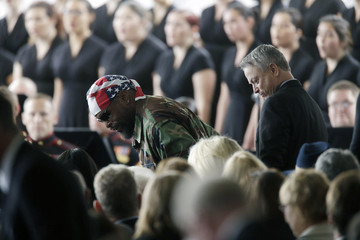 Gary Sinise Funeral Held for Nancy Reagan at Reagan Presidential Library