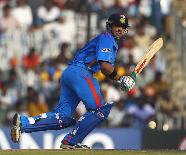 Gautam Gambhir - India v New Zealand - 2011 ICC World Cup Warm Up Game