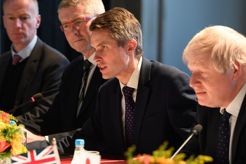 Gavin Williamson Boris Johnson and Gavin Williamson Hold Meetings With Japanese Counterparts