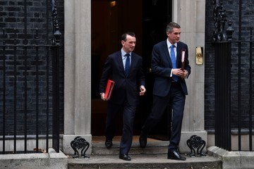 Gavin Williamson UK Weekly Cabinet Meeting as Prime Minister Theresa May Begins a Major Parliamentary Battle Over Brexit