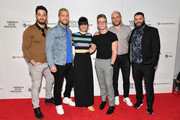 "(L-R) Michael Turchin, Lance Bass, Constance Zimmer, Tyler Oakley, Gus Kenworthy, and Guillermo Díaz attend the ""Gay Chorus Deep South"" screening during the 2019 Tribeca Film Festival at Spring Studios on April 29, 2019 in New York City."