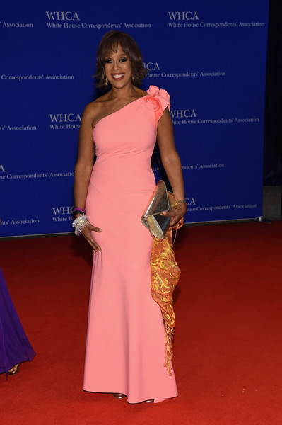 102nd White House Correspondents' Association Dinner - Arrivals [red carpet,shoulder,carpet,dress,clothing,flooring,hairstyle,fashion,joint,gown,arrivals,gayle king,washington dc,white house correspondents association dinner]