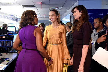 Gayle King Annual Charity Day Hosted By Cantor Fitzgerald, BGC and GFI - Cantor Fitzgerald Office - Inside