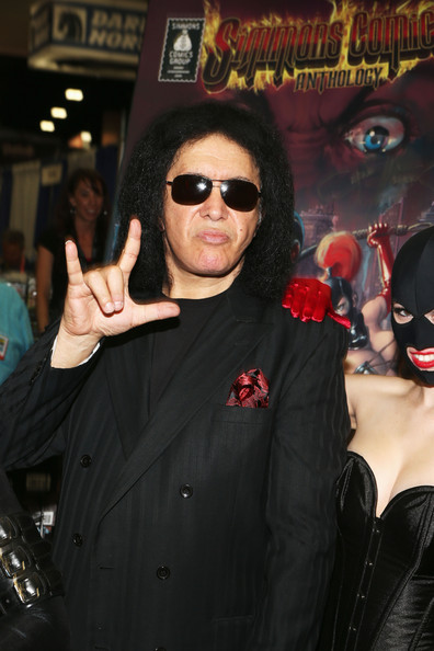 "Musician Gene Simmons Debuts ""Simmons Comics Anthology"" with comic book signing at Comic-Con International 2012 at San Diego Convention Center on July 13, 2012 in San Diego, California."