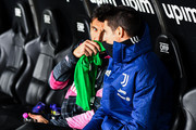 Gianluigi Buffon (L) and Alvaro Morata of Juventus before the Serie A match between Genoa CFC and Juventus Fc at Stadio Luigi Ferraris on December 13, 2020 in Genoa, Italy.