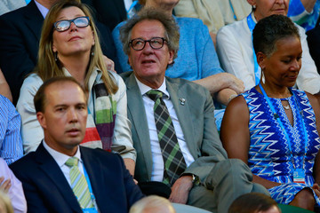 Geoffrey Rush 2014 Australian Open - Day 14