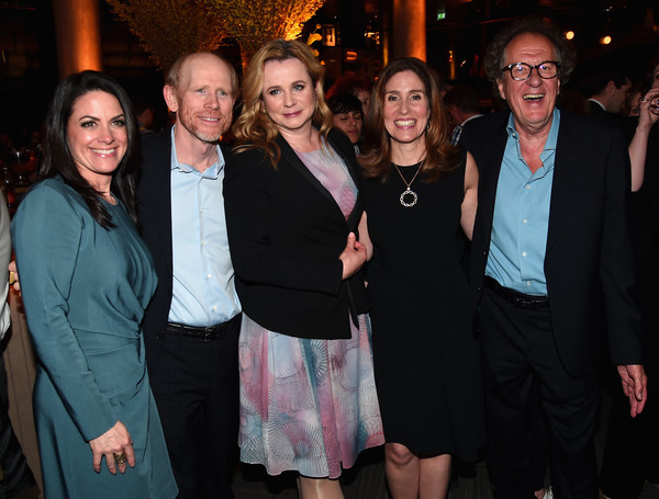 National Geographic's Premiere Screening of 'Genius' in London - Reception [event,social group,fashion,fun,party,formal wear,suit,emily watson,ron howard,geoffrey rush,ceo,evp,director,london,national geographic,premiere screening of ``genius,reception]