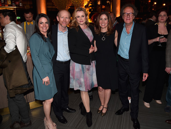 National Geographic's Premiere Screening of 'Genius' in London - Reception [social group,event,formal wear,fun,suit,party,emily watson,ron howard,geoffrey rush,ceo,evp,director,london,national geographic,premiere screening of ``genius,reception]