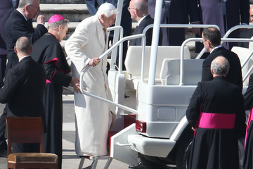 Georg Gaenswein Pope Benedict XVI Holds His Final General Audience Before His Retirement