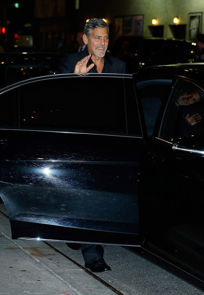 George Clooney leaving the late show Stephen Colbert 8th September 2015 George+Clooney+Celebrities+Attend+First+Taping+7qAlSSsToJvl