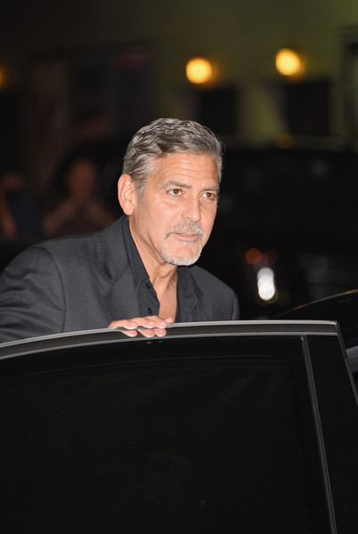 George Clooney leaving the late show Stephen Colbert 8th September 2015 George+Clooney+Celebrities+Attend+First+Taping+Dw1VEoIG-oEl