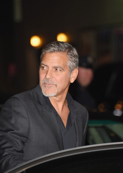 George Clooney leaving the late show Stephen Colbert 8th September 2015 George+Clooney+Celebrities+Attend+First+Taping+HouBa4ZSGxtl