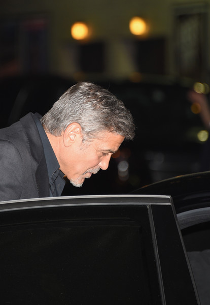 George Clooney leaving the late show Stephen Colbert 8th September 2015 George+Clooney+Celebrities+Attend+First+Taping+ObHV0o7pw4Il