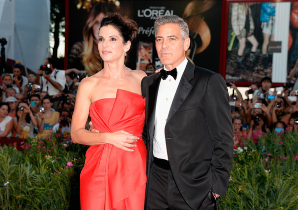 George Clooney and Sandra Bullock at the evening premiere of Gravity at Venice Film Festival George+Clooney+Gravity+Premieres+Venice+3tFsYb5XtW4l