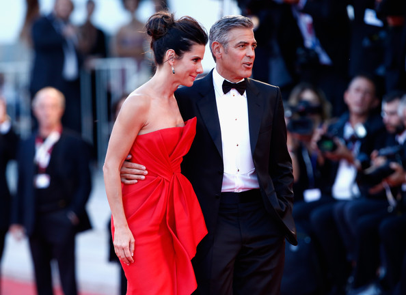 George Clooney and Sandra Bullock at the evening premiere of Gravity at Venice Film Festival George+Clooney+Gravity+Premieres+Venice+eEfhlT11HCHl