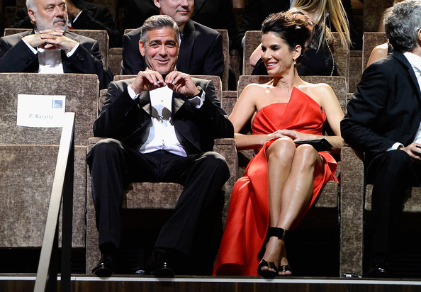 George Clooney and Sandra Bullock at the evening premiere of Gravity at Venice Film Festival George+Clooney+Opening+Ceremony+Inside+70th+AD9Ynblo15wl