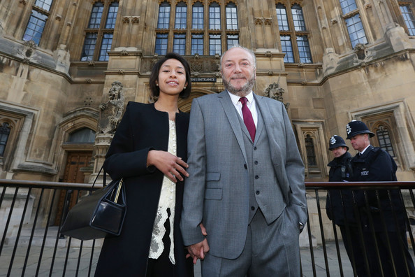 George Galloway Before He Is Sworn In As MP For Bradford West