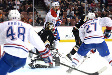 George Parros Montreal Canadiens v Anaheim Ducks