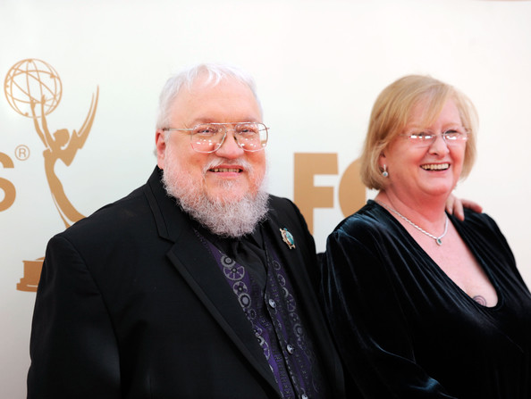 George R. R. Martin with beautiful, Wife Parris McBride