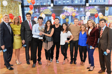 "George Stephanopoulos Amy Robach ""Dancing With The Stars"" Finalists Visit ABC's Good Morning America"