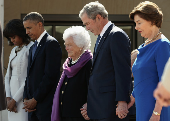 e5e67fd35dc6c George W Bush and Michelle Obama Photos Photos - George W. Bush ...