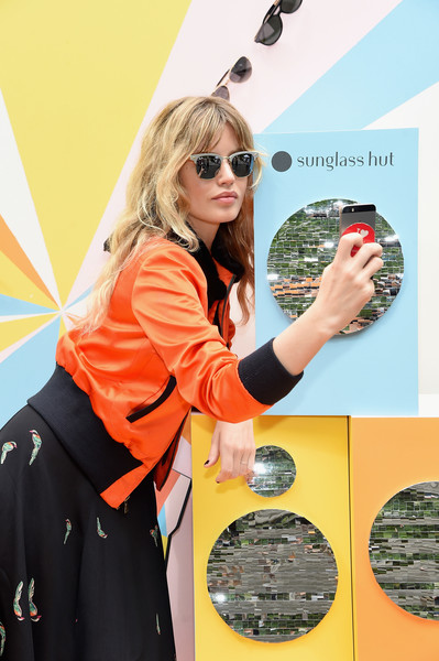de0601e7947 Georgia May Jagger Photos Photos - Refinery29 x Sunglass Hut Shades ...