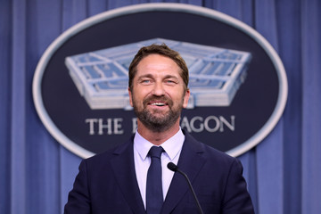Gerard Butler Actor Gerard Butler Discusses His New Film About Navy Attack Submarine Crew At The Pentagon