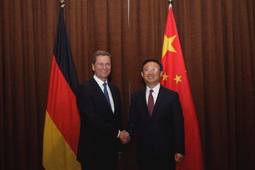 Yang Jiech German Federal Foreign Minister Guido Westerwelle Visits China