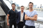 Actors Elyas M'Barek, Tom Schilling and Florian David Fitz attend the German Talent Festival brunch during the 2014 Toronto International Film Festival at The Beverley Hotel on September 6, 2014 in Toronto, Canada.