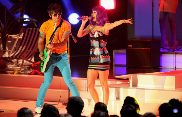 Katy Perry performa during the PRO7 TV show 'Germany's Next Topmodel  Final' at the Lanxess Arena on June 10, 2010 in Cologne, Germany.