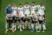 The Germany team pose for a team photo prior to the 2018 FIFA World Cup Russia group F match between Germany and Mexico at Luzhniki Stadium on June 17, 2018 in Moscow, Russia.