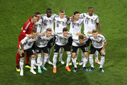 Germany team pose during the 2018 FIFA World Cup Russia group F match between Germany and Sweden at Fisht Stadium on June 23, 2018 in Sochi, Russia.