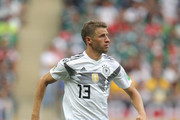 Thomas Mueller of Germany runs with the ball during the 2018 FIFA World Cup Russia group F match between Germany and Mexico at Luzhniki Stadium on June 17, 2018 in Moscow, Russia.