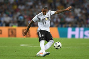 Germany player Jerome Boateng in action during the 2018 FIFA World Cup Russia group F match between Germany and Sweden at Fisht Stadium on June 23, 2018 in Sochi, Russia.