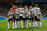 Germany pose prior to the 2018 FIFA World Cup Russia group F match between Germany and Sweden at Fisht Stadium on June 23, 2018 in Sochi, Russia.