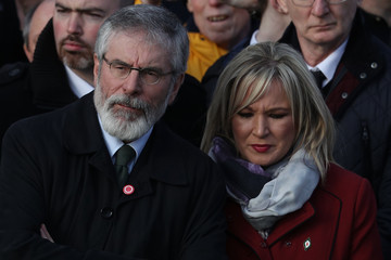 Gerry Adams Martin McGuinness's Funeral Takes Place In Derry