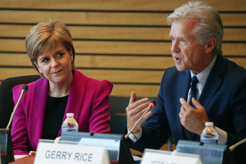 Gerry Rice First Minister of Scotland Nicola Sturgeon Speaks at World Bank in Washington