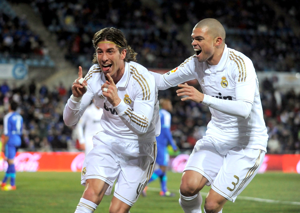 Real Madrid Vs Getafe Cf: Sergio Ramos And Pepe Photos Photos