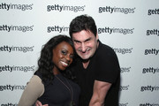 Delaina Dixon (L) and Rob Shuter attend Getty Images Customer Appreciation, NYC at No. 8 on October 22, 2014 in New York City.