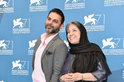 Actor Peyman Moaadi and director Rakhshan Bani-E'temad attends the 'Tales' (Ghesseha) photocall during the 71st Venice Film Festival on August 28, 2014 in Venice, Italy.