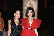 Alexa Demie and Sofia Carson attend 'Giambattista Valli Loves H&M Cocktail Dinatorie' on October 24, 2019 in Rome, Italy.