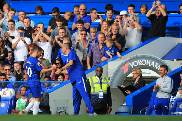Chelsea FC vs. Cardiff City - Premier League [team,product,fan,sports,sport venue,championship,stadium,games,player,team sport,eden hazard,fans,manager,coaching staff,maurizio sarri,hat-trick,chelsea fc,cardiff city,premier league,match]