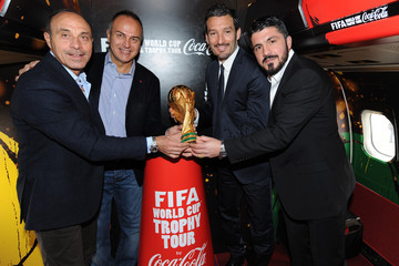 Gianluca Zambrotta FIFA World Cup Trophy Tour in Rome - Trophy Arrival In Ciampino