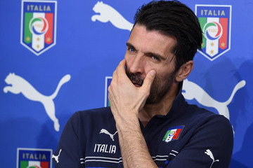 Gianluigi Buffon Italy Training Session And Press Conference