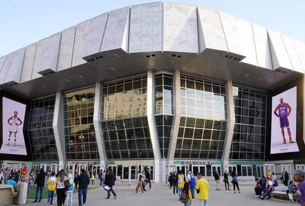 Los Angeles Lakers v Sacramento Kings [images,architecture,building,sport venue,stadium,arena,metropolitan area,facade,convention center,city,community centre,gianna bryant,kobe bryant,view,note,exterior,displays,los angeles lakers,sacramento kings,golden 1 center,los angeles lakers,nba,the nba finals,2020,boston celtics,kobe bryant 24,sacramento kings,livingly media,gianna maria-onore bryant]
