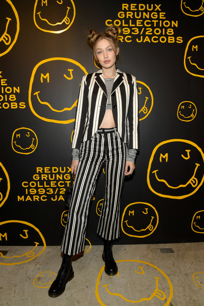 Marc Jacobs, Sofia Coppola, And Katie Grand Celebrate The Marc Jacobs Redux Grunge Collection And The Opening Of Marc Jacobs Madison [the marc jacobs redux grunge collection,yellow,font,style,marc jacobs,sofia coppola,katie grand celebrate the marc jacobs redux grunge collection and the opening of marc jacobs madison,katie grand,gigi hadid,marc jacobs madison,new york city,opening]