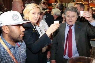 Gilbert Collard French Far-Right Political Party National Front (FN) Leader Marine Le Pen Visits Le Salon De L'Agriculture in Paris
