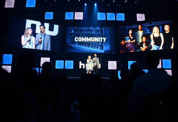 jacobs danny pudi gillian jacobs and danny pudi attend hulu s upfront
