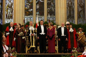 Gilly Yarrow David Cameron Attends the Lord Mayor's Banquet