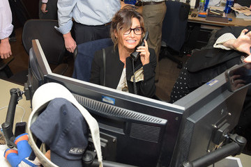 Gina Gershon Annual Charity Day Hosted By Cantor Fitzgerald And BGC - Cantor Fitzgerald Office - Inside